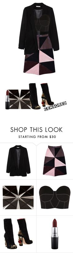 """""""Imagine This."""" by vii-xxiv ❤ liked on Polyvore featuring MANGO, Florence Bridge, Nathalie Trad, Paper London, Dolce&Gabbana and MAC Cosmetics"""