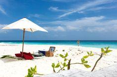 17 - Delicie-se com um piquenique em uma praia deserta