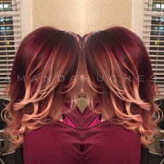 Beautiful Burgundy Ombre #joico #redombre