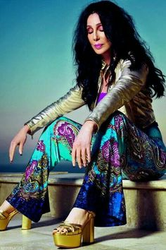 Cher in groovy pants.