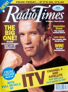 Radio Times Cover 1991-02-23 Arnold Schwarzenegger