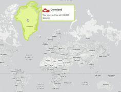 The true size of. Hoe ons wereldbeeld verneukt word door een verkeerde kaartweergave van de wereld. Groenland spant de kroon.