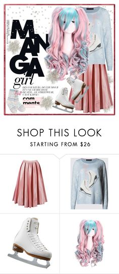 """So Cute: Manga Ice Skating Style"" by yours-styling-best-friend ❤ liked on Polyvore featuring M&S Collection, Riedell and Lipsy"