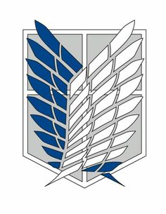 This is the Scouting Legion logo from the anime Attack on Titan(Shingeki no Kyojin) For those who don't know the Recon Corps are the driving force of th. Attack On Titan Symbol, Attack On Titan Tattoo, Attack On Titan Anime, M Anime, Anime Art, Logo Manga, Titan Logo, Snk Cosplay, Anime Tattoos