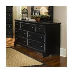 Carolina Furniture 435700 Midnight Triple Dresser Chest Of Drawer In Black