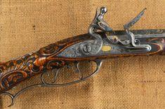 Judson Brennan: Alaskan Longrifle Artisan: The Golden Rifle: Part 2 Flintlock Rifle, Flint And Steel, Mexican Army, Black Powder Guns, Rifle Stock, Long Rifle, American Revolutionary War, Hunting Rifles, Mountain Man