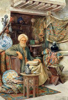 Islamic Paintings, Old Paintings, Art Painting Images, Empire Ottoman, Arabian Art, Turkish Art, European Paintings, Egyptian Art, Old Art