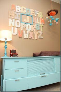 Love the color scheme and alphabet!