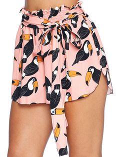 Toucan Tango Flouncy Shorts - LIMITED (AU $50AUD) by Black Milk Clothing