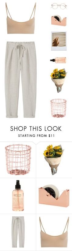 """""""Warm Water"""" by virty8 ❤ liked on Polyvore featuring Dot & Bo, philosophy, Tom Dixon, Toast, Hanro, croptop, pants and virtyfashion"""