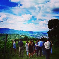 Right here. Right now. (Students from Oklahoma University visiting our winery) #thinkgreendrinkred