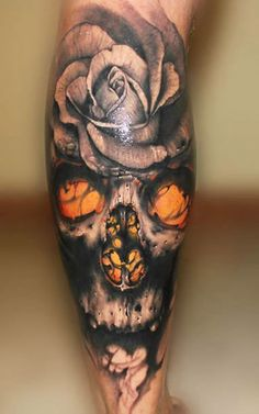 A truly epic skull tattoo by Riccardo Cassese