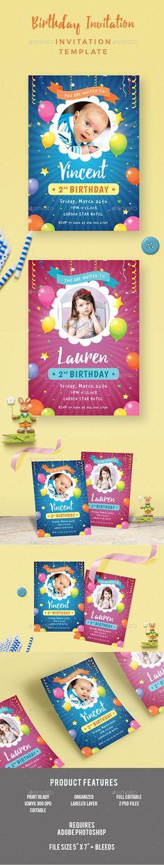 photoshop birthday invitation template
