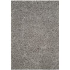 Polar Shag Silver 6 ft. 7 in. x 9 ft. 2 in. Area Rug