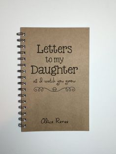 Letters to my Daughter Baby Keepsake Gift To My Daughter Journal Notebook Tradition Gift from Mother As you grow Diary Baby Girl My Baby Girl, Our Baby, Baby Love, Baby Girl Gifts, Baby Girl Stuff, Diy Baby Gifts, Babies Stuff, Letter To My Daughter, Future Daughter