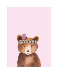These gorgeous woodland illustrations that have been embellished with beautiful floral treatments are sure to  be a lovely addition to any girl's bedroom. Despite misconceptions about her size, she is ultimately just a  gentle soul, kind natured and easy to love. All Lelly Lou art prints are printed on high-quality matte paper, signed & numbered  by Lelly herself and embossed with Lelly Lou signature stamp. Limited edition of 250 & available in 3 sizes