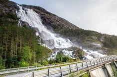 Dlouhý vodopád Langfossen Trondheim, Bergen, Rafting, Waterfall, Outdoor, Outdoors, Waterfalls, Outdoor Games, Outdoor Living