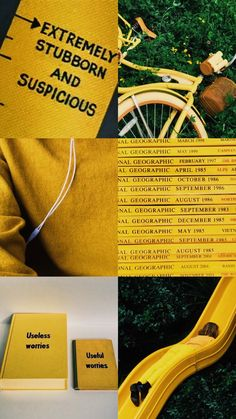 Quirky yellow aesthetic wallpaper