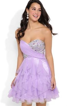 Deb Shops Strapless Short #Prom #Dress with Stone Bodice and Tendril Skirt $74.90