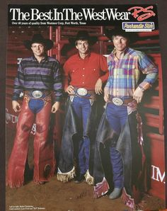Cody Lambert, Lane Frost, Tuff Hedeman, the three musketeers! Rodeo Cowboys, Hot Cowboys, Cowboys And Indians, Real Cowboys, Cowboy Horse, Cowboy Up, Cowboy And Cowgirl, Cody Lambert, Lane Frost