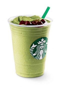 Hojicha Frappuccino: Green tea topped with Earl Grey jelly.