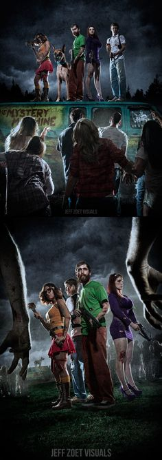 Scooby gang vs. Zombies - created via http://pinthemall.net