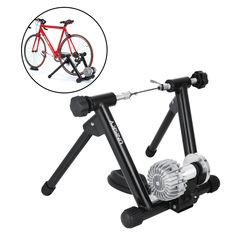 OrangeA Fluid Trainer with Resistance Shifter Portable Road Machine Indoor Bicycle Trainer for Inddor Exercise Road Machine Smart Trainer (Black Fluid Trainer)
