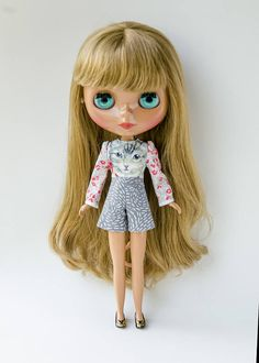 Handmade Romper for Neo Blythe Doll by Plastic Fashion