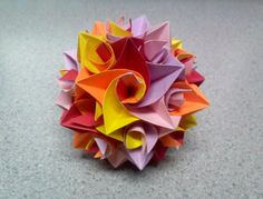 Origami Curler Icosidodecahedron ('Star' View) by TheOrigamiArchitect on deviantART