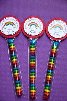 Rainbow Birthday Party Mini Favor Bags by LittlePeanutEvents