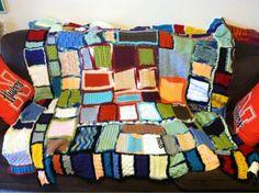 Crochet blocks blanket from Treasures Made from Yarn Diy Crochet, Crochet Ideas, Crochet Patterns, Sacchi, Crochet Blocks, Afghan Blanket, Fun Diy, Afghans, Free Knitting