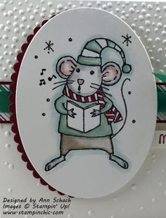 Faux water colored mouse from Stampin' Up!'s Merry Mice.