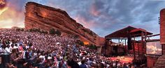 Red Rocks Ampitheater - Denver, Colorado. Seeing a concert here is on my bucket list.