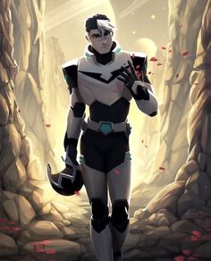 VLD fanart - Black Paladin Shiro 'scars on the surface hides what's beneath'