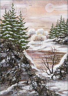 Зимний Сибирский пейзаж