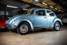 A virtually unused 1974 VW Beetle was discovered in mint condition and is now going under the hammer in Denmark