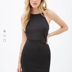 SMALL! F21 MINI LOW BACK DRESS (in burgundy) Dress is new with tags! Mini bodycon! Will upload pictures of actual item soon! IT IS IN A BURGUNDY COLOR!!! I could only find pictures of the black dress but will have more up when I get home! Fits on the slimmer side for a small! Forever 21 Dresses Mini