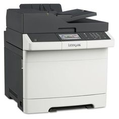 "LEXMARK INTERNATIONAL CX410e Multifunction Color Laser Printer, Copy/Fax/Print/Scan (28D0500). Product Type:Multifunction - Printer, Copier, Scanner, FaxMaximum Print Speed (Black):32 ppmPrint Technology:LaserNetwork Ready:YesMaximum Print Speed (Color):32 ppmPrint Resolution (Color) (Width x Height):1200 x 1200 dpiCopying Speed (Black):32 ppmDepth:23 2/5""Print Resolution (Black) (Width x Height):1200 x 1200 dpiWidth:21 9/10""Connector/Port/Interface:Ethernet,USBCopying Speed (Color):32..."