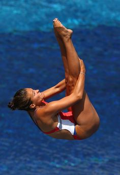 Maren Taylor of the USA competes in the Women's 3m Springboard Diving Semifinal round on day seven of the 15th FINA World Championships at Piscina Municipal de Montjuic on July 26, 2013 in Barcelona, Spain.