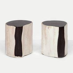 Petrified Wood Side Tables & Stools | Andrianna Shamaris