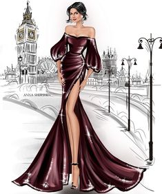 Fashion design sketches 453948837437864392 - Source by corinneturpault Dress Design Sketches, Fashion Design Sketchbook, Fashion Design Drawings, Fashion Sketches, Dress Designs, Fashion Figure Drawing, Fashion Drawing Dresses, Fashion Illustration Dresses, Drawing Fashion