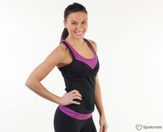Zobha Grace Tank (with removable cups) - ShopStyle Sport Tops Range Of Motion, Timeless Classic, Workout Gear, Victorious, Athletic Tank Tops, How To Remove, Silhouette, Stylish, Cups