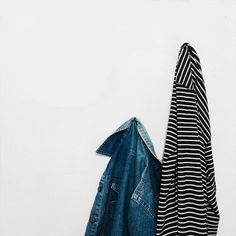 #jeans #stripe #shirt #black #monochrome