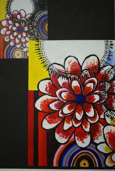 Beatriz Milhazes artist PASTICHE in acrylic.