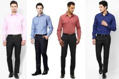 Evergreen black formal pant, evergreen black pant shirt combination, formal dress combination for men
