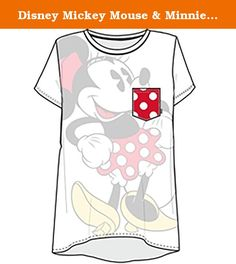 Disney Mickey Mouse & Minnie Mouse Hey There Junior Girls Tee T Shirt Fashion Top (Large, White). Officially Licensed Disney Merchandise. Features Disney Mickey Mouse or Minnie Mouse. Easy fit, soft feel and lightweight; opaque softhand print. 63% Polyester 37% Rayon. Great for youself or a gift!.
