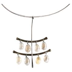 Viviana Torun Rutilated Quartz Necklace For Georg Jensen | From a unique collection of antique and modern sterling silver at https://www.1stdibs.com/furniture/dining-entertaining/sterling-silver/