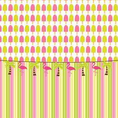 """Tropical Flamingos"" by Debra Miller."