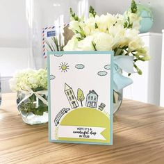 In the City Hostess stamp set Stampin Up Anleitung, It's A Wonderful Day, Beautiful Handmade Cards, Stamping Up, Cool Cards, Creative Cards, Stampin Up Cards, Special Day, Crafts To Make