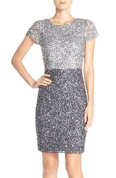 Adrianna Papell Sequin Colorblock Sheath Dress available at #Nordstrom